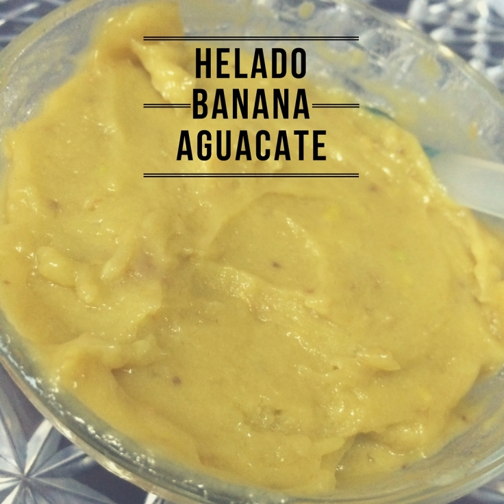 Helado de Banana-Aguacate